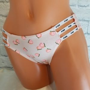 PINK Victoria's Secret Peach Logo Cheekster Panty